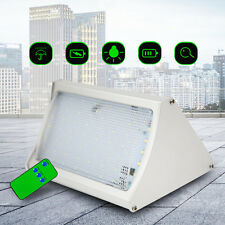 LED Solar Power PIR Motion Sensor Wall Light Outdoor Path Garden Lamp w/ Remote