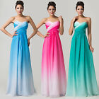 OMBRE New Long Formal Evening Bridesmaid Prom Party Dresses Wedding Gown Pageant