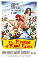 G5037 Pirates Of Blood River Movie VHS Vintage Laminated Poster FR