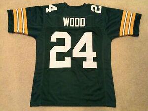 UNSIGNED CUSTOM Sewn Stitched Willie Wood Green Jersey - M, L, XL, 2XL