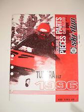 SKIDOO 1996 PARTS CATALOG  MANUAL TUNDRA II LT