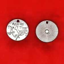 4 x Tibetan Silver 'After All This Time? Always.' Harry Potter Plate Tag Charms