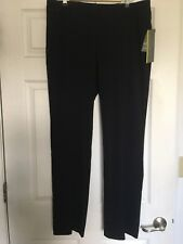 JM Collection Women's Pull-On Wide-Leg Pants Color: Deep Black Size: 14