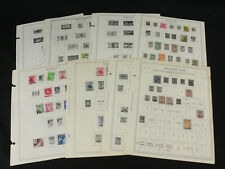 Thailand Siam Stamp Collection Lot on Minkus Album Pages Some Early 1883-1968