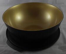 Tupperware XL Allegra 5 l Schüssel Schwarz / Gold Deckel mit Lasche Neu OVP