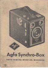 PDF Agfa Synchro-Box Kamera Bedienungsanleitung Manual
