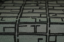 Black Contemporary Part Chenille Upholstery Fabric 6.75 Yds