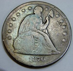 1870 CC - Seated Liberty Silver Dollar - Circulated Toned
