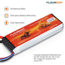Floureon 5000mAh 7.4V 2S 30C LiPo Battery T Plug for RC Evader BX Car Drone FPV