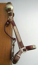 Vtg Silver Horse Show Halter 5 way adjustable Showmanship AQHA Western Leather