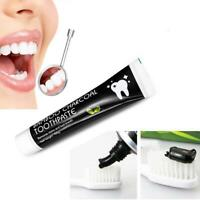 Bamboo Charcoal Teeth Whitening Toothpaste Black Removes Stains Breath 105g Top