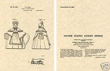 SHAWNEE GRANNY ANN TEAPOT US Patent Art Print READY TO FRAME!! 1944 Ganz tea pot