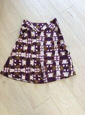Wallis 2 Pocket Detail Knee Length Linen Skirt Size UK 10 petit /38