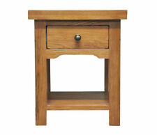 Oak Rectangle Side & End Tables with Drawers