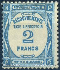 FRANCE TIMBRE TAXE N° 61 NEUF ** SANS CHARNIERE COTE 260€