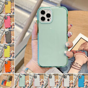For iPhone 12 11 Pro Max Xs XR 8 7 6 Cystal Clear Shockproof Case Hybrid Cover