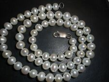 """6mm White South Sea Salt Water Pearl 17"""" NECKLACE Unused knotted mint ster"""