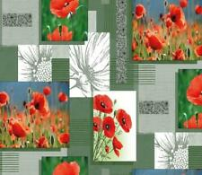 Tablecloth by the Metre Oilcloth Washable Poppy 1089-2