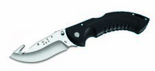 Buck Knives 398 Folding Omni Hunter-12Pt Large-Black Guthook Folding Knife 398BK