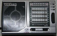 Wetekom 10 Band Weltempfänger Am FM und SW kleiner Weltempfänger