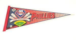 VTG Philadelphia Phillies MLB Baseball Team full Size Pennant Vintage 90's