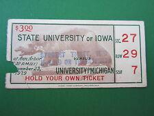 Michigan vs State University of Iowa 1929 Ticket Stub- RARE!