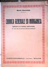 CHIMICA GENERALE ED INORGANICA Esposta in tavole sintetiche Remo GRANDORI di e