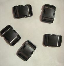 "High Quality 2"" Fastex Side Release Buckle Black (5 Sets)"