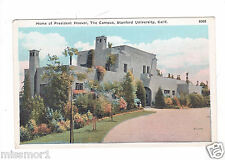 President Hoover home 1930s Vintage postcard Stanford University California