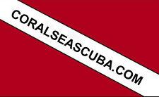 Coral Sea Scuba & Water Sports Dive Flag Sticker Scuba Diving Bumper Decal