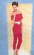 Nifty Fifties Red Hot Catsuit Adult Costume - Standard