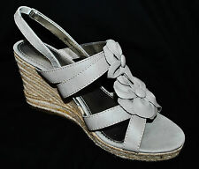 NY&Co Strappy Flowers Woven Wedge Platform High Heel Open Toe Sandals Shoes 9