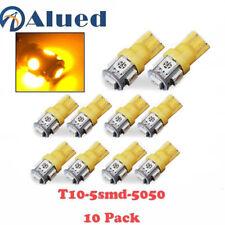 10 x Yellow T10 W5W 194 168 2825 5050 LED Super Bright Car Lights Lamp Bulb 12V