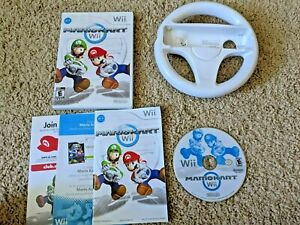 Mario Kart Wii (Nintendo Wii, 2008) Complete With Manual CIB with Wheel