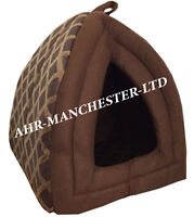 New Pet Dog/Cat Fleece Winter Bed Igloo House/Luxury Basket