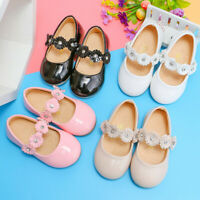 UK Toddler Infant Kids Baby Girls' Princess Shoes Fashion Flowers Sandals Shoes