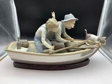 Lladro Figur Paloma Fischer im Boot 40 cm 1 Wahl.