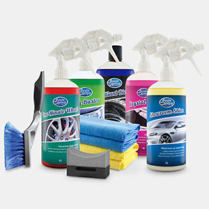SHOWROOM SHINE by Greased Lightning 1L Ultimate Car Cleaning Pack 11 Piece Kit