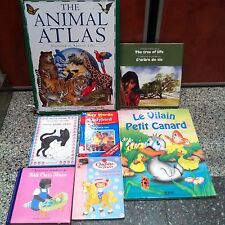 Lot de livres d'enfant en anglais (Animal Atlas)