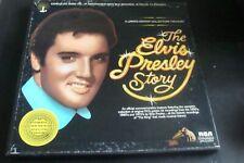 THE ELVIS PRESLEY STORY 5 lp BOX SET CLEAN VINYL