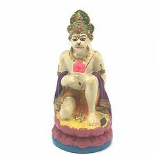 "Handcrafted Ganges Clay India Monkey God Hanuman Statue Idol Figure 7.3"""