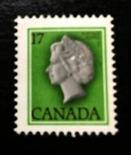 CANADA 1979 CANADIAN QUEEN ELIZABETH FACE 17 CENT MNH STAMP SHIFTED CUFFED ERROR