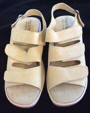 New Napa Flex Womens Empire Sling back Sandals Sz 11 M Beige Italy Shoe