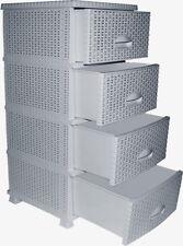 Kommode Schubladenschrank 4 Schubladen-Container Schrank Schubladencontainer