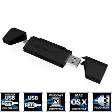 Sabrent 2-Slot Micro USB OTG e USB 3.0 FLASH MEMORY CARD READER PER WINDOWS, M