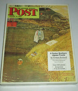 Norman Rockwell 1972 The Saturday Evening Post Travelling Salesman 17x22 Puzzle