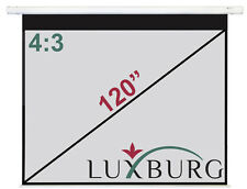 "Luxburg® 120"" 244x183 cm Full HD 3D Manual Pull Down Projector Projection Screen"