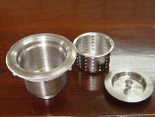 Auric Sinks Deep Basket Stainless Steel Strainer and Drain