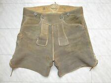 Alte kurze Hirschleder Hose Größe 46 48 grau braun super weiches dickes Leder