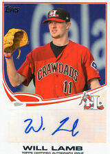 2013 TOPPS WILL LAMB AUTOGRAPH ISSUE AUTOGRAPH BASEBALL CARD